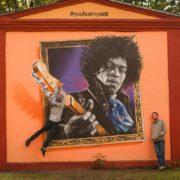 Граффити портрет Джими Хендрикс streetskills youfeelmyskill в Витебске