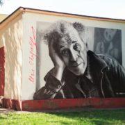 Граффити портрет Марка Шагала StreetSkills youfeelmyskill в Витебске