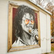 Граффити портрет Майкл Джексон streetskills youfeelmyskill в Витебске