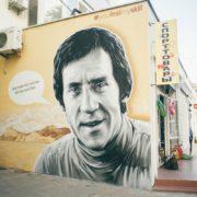Граффити портрет Владимир Высоцкий streetskills youfeelmyskill в Крыму