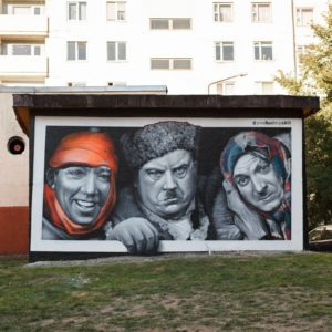 Граффити портрет самогонщики streetskills youfeelmyskill в Витебске