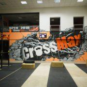 Роспись стен интерьера фитнес клуба в Москве