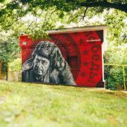 граффити реклама оформление роспись стен фасадов зданий на заказ в Москве Краснодаре Сочи