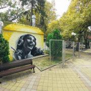 граффити youfeelmyskill реклама оформление роспись стен фасадов зданий на заказ в Москве Краснодаре Сочи