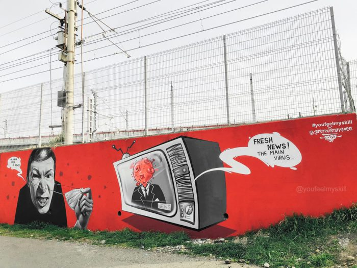 Новости коронавирус в России граффити covid-19