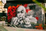 Граффити доктора зло в центре Сочи от Youfeelmyskill